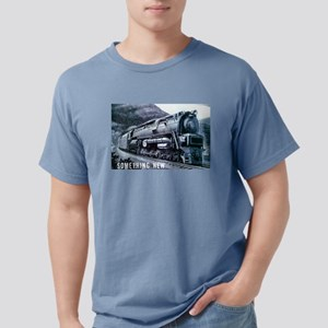Baldwin S-2 Steam Locomotive Ash Grey T-Shirt