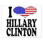 I Love Hillary Clinton Small Poster