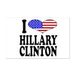 I Love Hillary Clinton Mini Poster Print