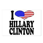 I Love Hillary Clinton Postcards (Package of 8)