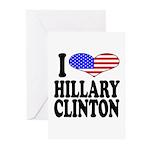 I Love Hillary Clinton Greeting Cards (Pk of 10)