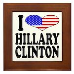 I Love Hillary Clinton Framed Tile