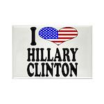 I Love Hillary Clinton Rectangle Magnet