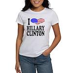 I Love Hillary Clinton Women's T-Shirt