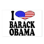 I Love Barack Obama Postcards (Package of 8)
