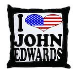 I Love John Edwards Throw Pillow
