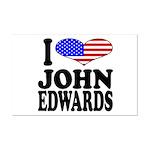 I Love John Edwards Mini Poster Print