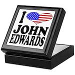 I Love John Edwards Keepsake Box