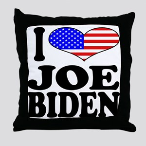 I Love Joe Biden Throw Pillow