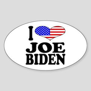 I Love Joe Biden Oval Sticker