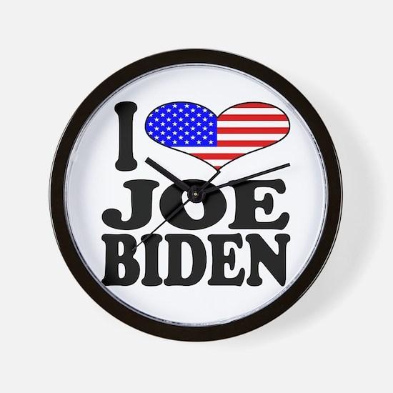 I Love Joe Biden Wall Clock