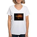 Hot Georgia Girl! Women's V-Neck T-Shirt