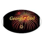 Hot Georgia Girl! Oval Sticker