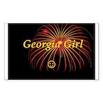 Hot Georgia Girl! Rectangle Sticker