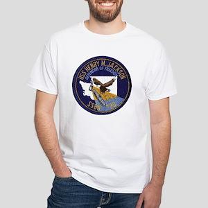 SSBN 730 USS Henry M Jackson White T-Shirt