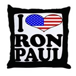 I Love Ron Paul Throw Pillow
