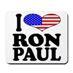 I Love Ron Paul Mousepad