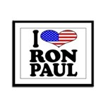 I Love Ron Paul Framed Panel Print