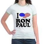 I Love Ron Paul Jr. Ringer T-Shirt