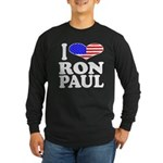I Love Ron Paul Long Sleeve Dark T-Shirt