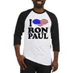 I Love Ron Paul Baseball Jersey