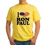I Love Ron Paul Yellow T-Shirt