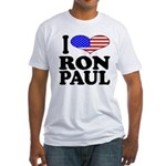 I Love Ron Paul Fitted T-Shirt