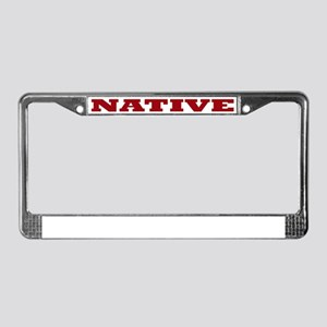 Native License Plate Frame