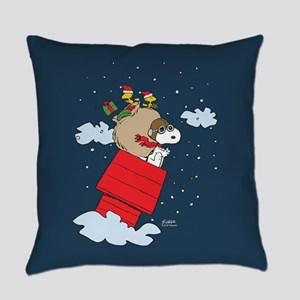 Flying Ace Santa Everyday Pillow