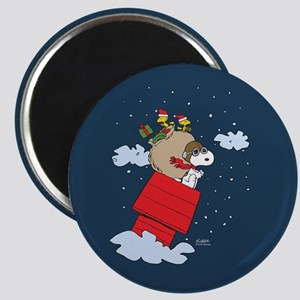 Flying Ace Santa Magnet
