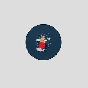 Flying Ace Santa Mini Button