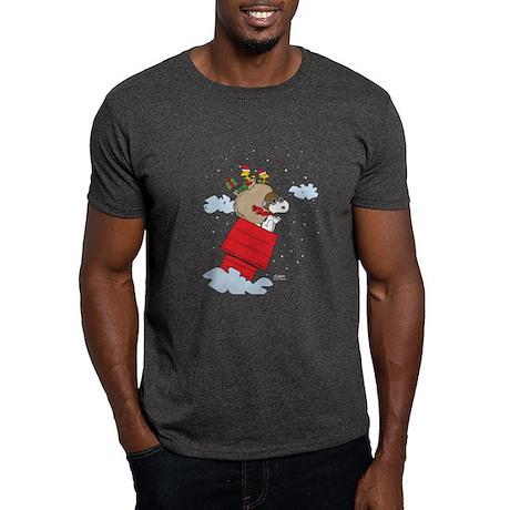 Flying Ace Santa Dark T-Shirt