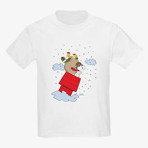 Flying Ace Santa Kids Light T-Shirt