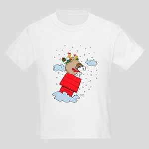 Flying Ace Santa Kids Light T-Shirt