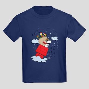 Flying Ace Santa Kids Dark T-Shirt