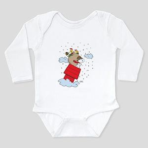 Flying Ace Santa Long Sleeve Infant Bodysuit