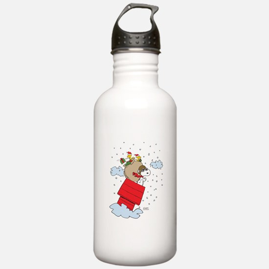 Flying Ace Santa Water Bottle