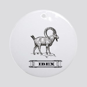 solid Ibex Round Ornament