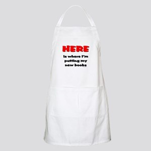 NEW BOOBS HERE BBQ Apron
