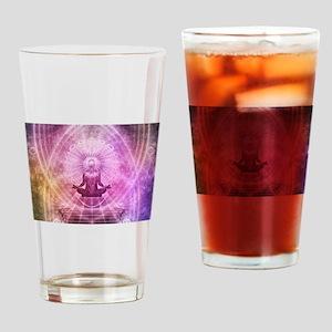 Yoga Meditation Drinking Glass
