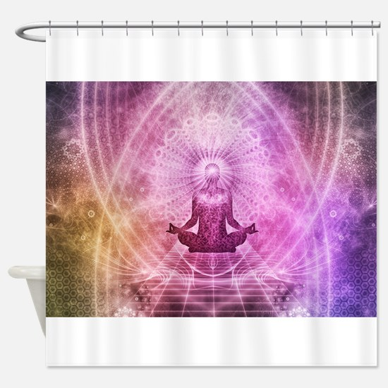 Yoga Meditation Shower Curtain
