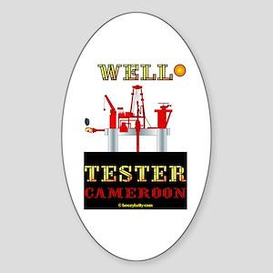 Well Tester Oval Sticker