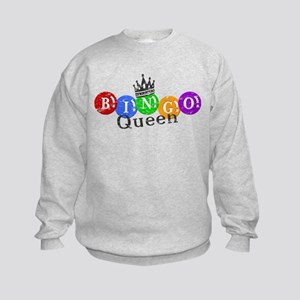 BINGO QUEEN Kids Sweatshirt