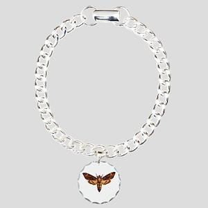 Deathead Moth Charm Bracelet, One Charm