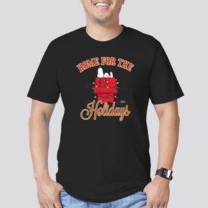 Home for the Holidays Men's Fitted T-Shirt (dark)