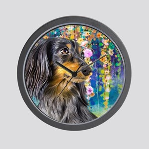 Dachshund Painting Wall Clock