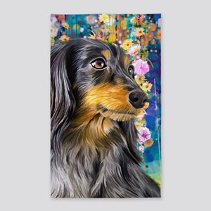 Dachshund Painting Area Rug