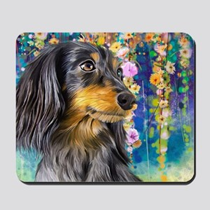 Dachshund Painting Mousepad