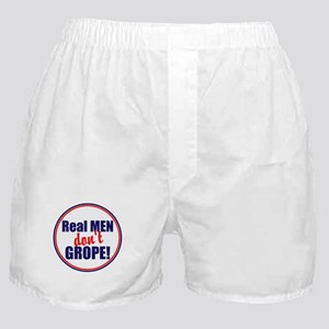 Real men don't grope Boxer Shorts
