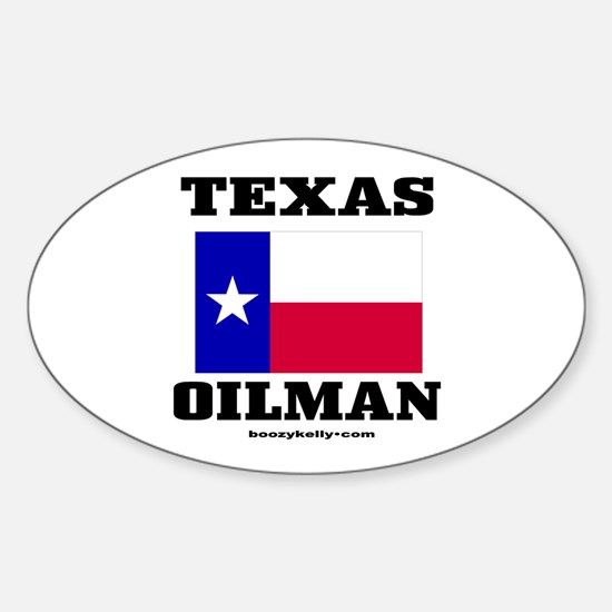 Texas Oilman Oval Decal